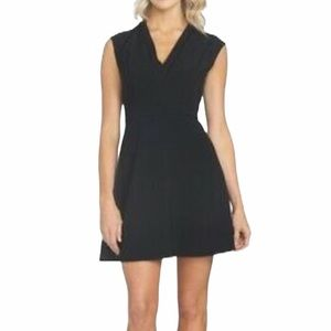 NWT 1.STATE BLACK OVER THE KNEE FLARE DRESS